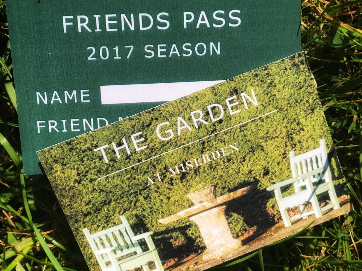 Become a garden friend